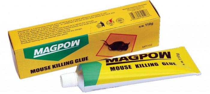 Тюбик клея для борьбы с мышами