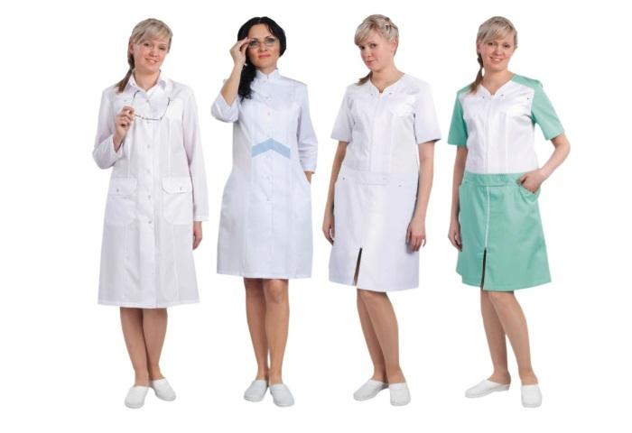 Медицинские халаты разных видов