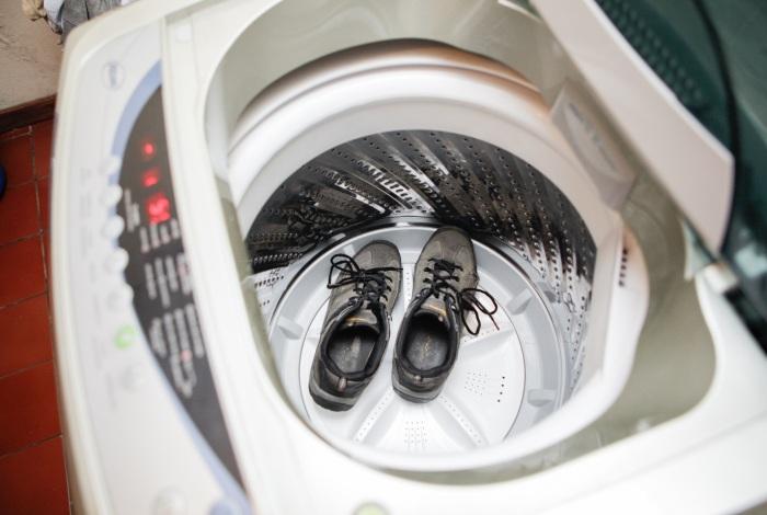 Стирка обуви в автоматическом режиме