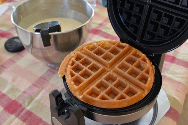 Симпатичный вариант круглой вафли