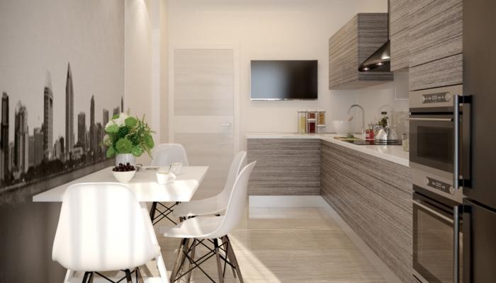 Удачное место для телевизора на кухне