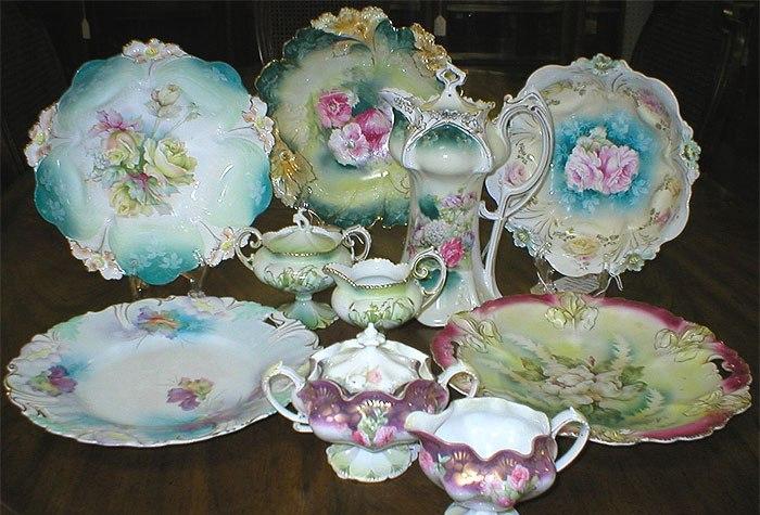 Антикварная посуда оригинальной формы