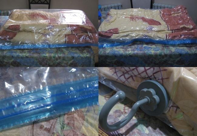 Вешалка позволит удобно разместить пакет в шкафу